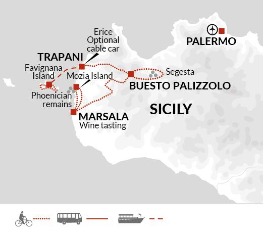 Cykelferie på Sicilien
